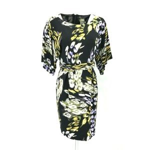 Taylor Abstract Print Tie Pencil Dress Sz 10 NWOT